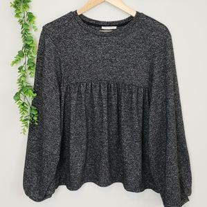 Zara Sweaters - Zara Trafaluc Babydoll Balloon Sleeve Top